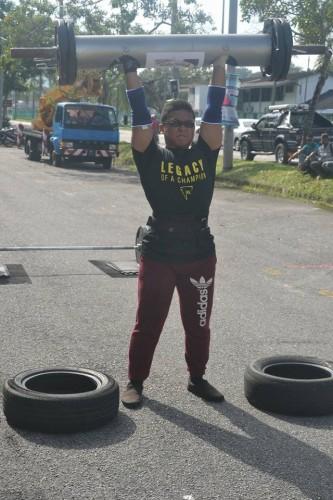 Aiman - 80kg Log Press AMRAP
